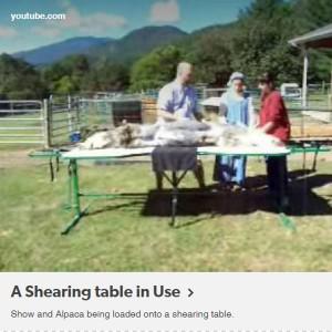 shearing-table